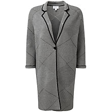 Buy Pure Collection Maggie Double Faced Cardigan, Black/Soft White Online at johnlewis.com