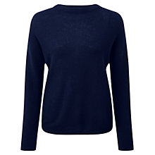 Buy Pure Collection Gloria Gassato Cashmere Jumper, Navy Online at johnlewis.com