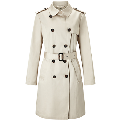 Four Seasons Double Breasted Trench Coat, Natural