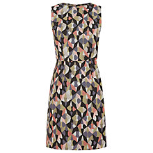 Buy Warehouse Diamond Ikat Shift Dress, Multi Online at johnlewis.com