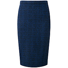 Buy Pure Collection Adeline Wool Pencil Skirt, Blue/Black Online at johnlewis.com