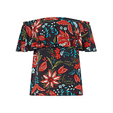 Buy Warehouse Botanical Drawn Floral Top Online at johnlewis.com