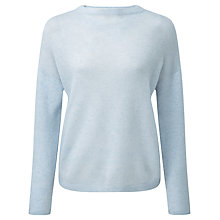 Buy Pure Collection Elaina Gassato Relaxed Jumper, Blue Frost Online at johnlewis.com