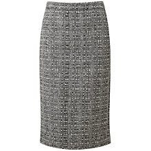 Buy Pure Collection Wool Belgrave Pencil Skirt, Black/White Online at johnlewis.com