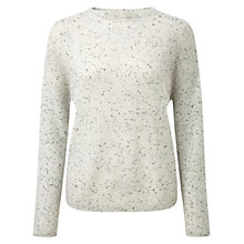 Buy Pure Collection Fawcett Gassato Cashmere Relaxed Sweater, Heather Grey Fleck Online at johnlewis.com