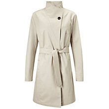 Buy Four Seasons Single Breasted Wrap Neck Coat, Natural Online at johnlewis.com