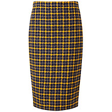 Buy Pure Collection Campbell Pencil Skirt, Oversized Yellow Check Online at johnlewis.com