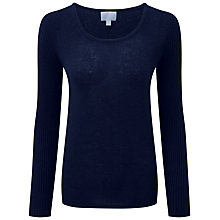 Buy Pure Collection Taylor Gassato Cashmere Jumper, Navy Online at johnlewis.com