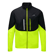 Buy Ronhill Running Jacket, Black/Fluorescent Yellow Online at johnlewis.com