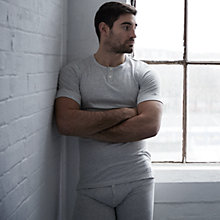 Buy Hamilton and Hare Thermal Cotton Long Johns, Grey Online at johnlewis.com