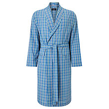 Buy John Lewis Linford Check Cotton Poplin Robe, Blue Online at johnlewis.com