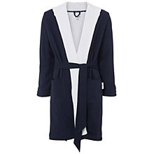 Buy Hamilton and Hare Cotton Towelling Boxing Robe, Navy Online at johnlewis.com