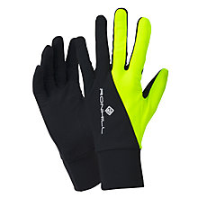 Buy Ronhill Beanie and Glove Set, Black/Fluorescent Yellow Online at johnlewis.com