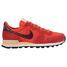 Buy Nike Women's Perforated Internationalist Trainers, Ember Glow/Night Maroon Online at johnlewis.com