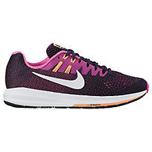 Buy Nike Air Zoom Structure 20 Women's Running Shoes, Purple Dynastly/White Online at johnlewis.com