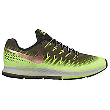 Buy Nike Air Zoom Pegasus 33 Shield Men's Running Shoes, Cargo Khaki/Metallic Red Bronze Online at johnlewis.com