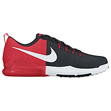 Buy Nike Zoom Train Action Men's Training Shoes, Black/Action Red Online at johnlewis.com