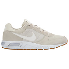 Buy Nike Nightgazer Men's Trainers, Light Bone/White Online at johnlewis.com