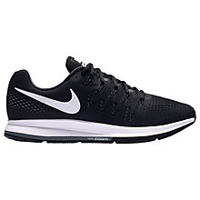 Buy Nike Air Zoom Pegasus 33 Men's Running Shoes, Black/White Online at johnlewis.com