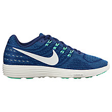 Buy Nike LunarTempo 2 Women's Running Shoes, Blue/White Online at johnlewis.com