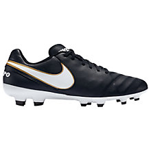 Buy Nike Tiempo Genio Leather II FG Men's Football Boots Online at johnlewis.com