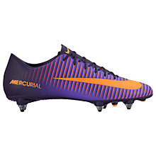Buy Nike Mercurial Victory VI Men's Soft Ground Football Boots, Purple Dynasty/Bright Citrus Online at johnlewis.com