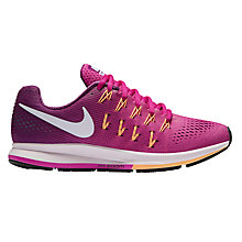 Buy Nike Air Zoom Pegasus 33 Women's Running Shoes, Fire Pink/White Online at johnlewis.com