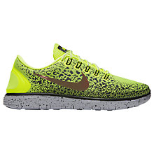 Buy Nike Free RN Distance Shield  Men's Running Shoes, Volt/Black Online at johnlewis.com