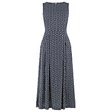 Buy Warehouse Squiggle Print Open Back Dress, Blue Online at johnlewis.com
