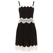 Buy Oasis Lace Trim Cami Dress, Black Online at johnlewis.com