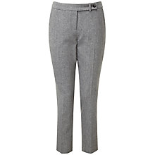 Buy Pure Collection Regan Tailored Ankle Trousers, Grey Melange Online at johnlewis.com