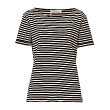 Buy Betty Barclay Striped T-Shirt, Dark Blue/Camel Online at johnlewis.com
