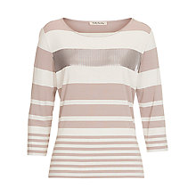 Buy Betty Barclay Embellished Stripe Top, Beige/Cream Online at johnlewis.com