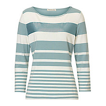 Buy Betty Barclay Embellished Stripe Top, Blue/Cream Online at johnlewis.com