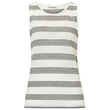 Buy Betty Barclay Striped Vest, Cream/Grey Online at johnlewis.com