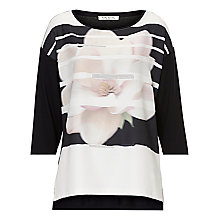 Buy Betty Barclay Embellished Top, Black/Cream Online at johnlewis.com