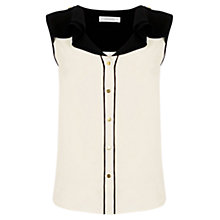 Buy Oasis Frill Piped Shirt, Off White Online at johnlewis.com
