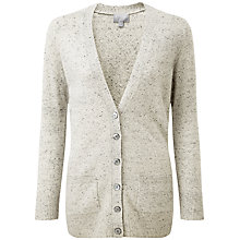 Buy Pure Collection Bella Boyfriend Cardigan, Heather Grey Fleck Online at johnlewis.com
