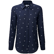 Buy Pure Collection Horse Shoe Print Lauren Silk Blouse, Multi Online at johnlewis.com