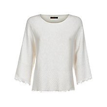 Buy Jaeger Cotton Linen Cape Jumper, White Online at johnlewis.com
