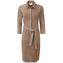Buy Pure Collection Regency Suede Dress, Mink Online at johnlewis.com