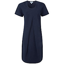 Buy Pure Collection Porter Silk Linen Cocoon Dress, Navy Online at johnlewis.com