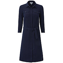 Buy Pure Collection Maia Silk Linen Dress, Navy Online at johnlewis.com