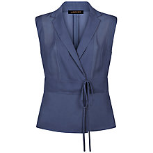 Buy Jaeger Lapel Wrap Blouse, Navy Online at johnlewis.com
