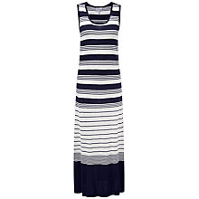 Buy Pure Collection Eleanor Stripe Maxi Dress, Navy Online at johnlewis.com