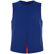 Buy Jaeger Peakaboo Seam Detail Top, Blue Online at johnlewis.com