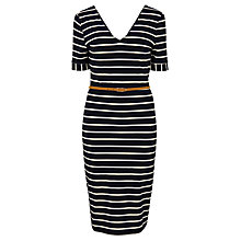 Buy Sugarhill Boutique Amy Fitted Shift Dress, Navy/Cream Online at johnlewis.com