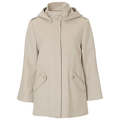 Betty Barclay A-Line Hooded Jacket, Nature-Grey