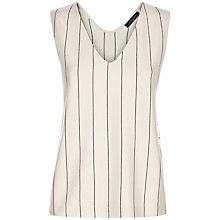 Buy Jaeger Ponte Fine Stripe Vest Top, Black/Ivory Online at johnlewis.com