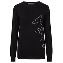 Buy Sugarhill Boutique Nita Bird Flock Jumper, Black Online at johnlewis.com